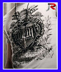 BNWT Mens J&R T-shirts Tattoo White Grey sz M L XL RRP$44.95