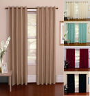 """Verona""  Faux Silk EYELET Fully Lined Ready Made Pair Of Curtains, Ring Top"