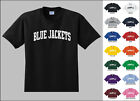 Blue Jackets College Letters T-shirt