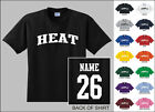 Heat College Letters Custom Name & Number Personalized Basketball T-shirt