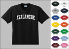 Avalanche College Letters Hockey T-shirt