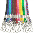 "Woven 1/8"" Nylon Neck LANYARD 36"" L Swivel Hook Whistle Referee ID Card Badge"