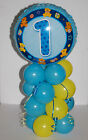 BIRTHDAY BABY/BOY 1ST-5TH BLUE FOIL BALLOON DISPLAY AGE 1-5 WITH INSTRUCTIONS