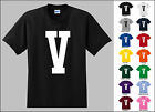 Capital Letter V Alphabet T-Shirt