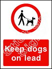 Keep dogs on lead - COUN0081 Stickers & Signs