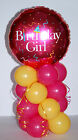 BIRTHDAY GIRL FOIL BALLOON DISPLAY TABLE CENTREPIECE DECORATIONS PARTY TABLEWARE