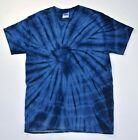 Spider Navy Tie Dye T-Shirt Size Youth to Adult XL, Short Sleeve, Cotton, Gildan