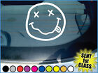 "'NIRVANA SMILEY FACE' vinyl car / guitar sticker. (Approx 3 1/2"" X 3 1/2"")"