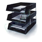 6 x Letter Filing Trays In/Out + Risers, Complete Set, Colour Choice, Fast Post