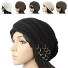 D1016 NEW UNISEX SPRING SUMMER RING BEANIE CROCHET KNIT HAT WOMEN MENS CAP
