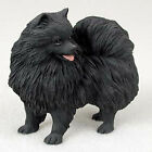 Pomeranian Hand Painted Collectible Dog Figurine Black