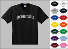 City of Jacksonville Old English Font Vintage Style Letters T-shirt