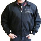 Harrington Jacke bestickt Wunschtext Name Rockabilly Blouson Rock Punk Gothic