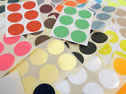 25mm Round Colour Code dot Stickers Coloured Circles Sticky Adhesive spot Labels