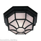 100W Outdoor Wall Light and Porch Light Hexagonal Black OR White IP54