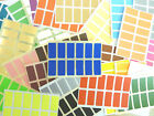 25x12mm Rectangle Stickers Coloured Rectangular Sticky Labels 36 Colours