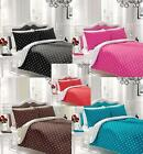 Reversible Polka Dot Duvet Cover with Pillow case Quilt Cover Bedding Set