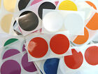 50mm Round Plastic Vinyl Colour Code dot Stickers Coloured Circle Sticky Labels