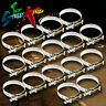"""16 X 2.5"""" STAINLESS COATED TURBO INTAKE INTERCOOLER SILICONE HOSE T-BOLT CLAMPS"""