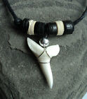 SHARK TOOTH NECKLACE long REAL SHARKS TEETH PENDANT over 30 styles available