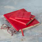 Fair Trade Handmade Eco Friendly Crimson Red Embossed Leather Journal Diary
