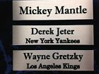 (6) CUSTOM MADE NAME PLATES FOR BASEBALL / HOCKEY PUCK DISPLAY CASES