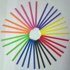 50  X 89MM PLASTIC ROUND COLOURED LOLLYPOP STICKS LOLLIPOP CRAFT COOKIE
