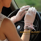 UV/SUN Protection gloves embroidered rose for  touch srceen gloves