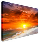 LARGE Flare Sunset Canvas Wall Art Pictures For Home Interiors