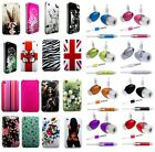 HARD BACK CASE COVER SKiN + HANDS FREE HEADSET HEADPHONE fOr Apple iPhone 3G 3GS