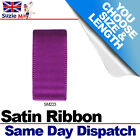 3mm 6mm DOUBLE SIDED SATIN RIBBON - PLUM PURPLE - 5m 10m 25m Metres - SM223