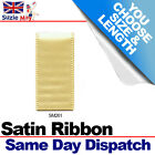3mm 6mm DOUBLE SIDED SATIN RIBBON - MAIZE - 5m 10m 25m Metres - SM261