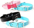 Cute Pet collar PU leather dog collar cat ring bell puppy small dog cat collar