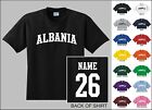 Country Of Albania College Letter Custom Name & Number Personalized T-shirt