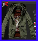 Mens NEW Slim HOT Army Hoody Jackets Coats Black Green size M L