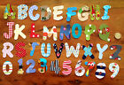 IRON ON fabric letters numbers kids names personalise no sewing hand crafted