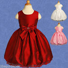 Wedding Flower Girl Bridesmaid Communion Party Occasion Dresses Age 12m-4y 024
