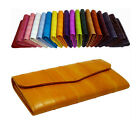 Luxury Genuine Eel skin Leather Standard Wallet with coin Purse Wallet 18 Colors
