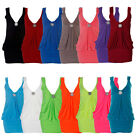 LADIES MINI BROACH DRESS WOMENS PARTY DRESS TOP ALL COLOURS SIZE 8-20