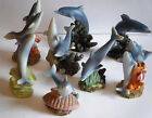 Collectable Dolphins 8 Different Dolphin figurines to collect 4.5cm - 7.5cm High