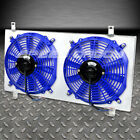 FOR 08-11 IMPREZA WRX STI BLUE ALUMINUM 10-BLADE RADIATOR COOLING FAN+SHROUD KIT