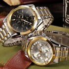 KS Mens Automatic 6 Hands Date Day Stainless Steel Strap Mechanical Watch + Box