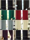 Fully Lined Faux Silk EYELET Ready Made Curtains - All Sizes & Drops NEW
