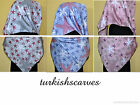 "STAR TURKISH QUALITY  %100 TWILL SILK SATIN 37"" SQUARE SCARF/HIJAB/TURBAN/SHAWL"