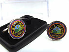 ALIENS WEYLAND YUTANI SHIP USCSS NOSTROMO BADGE MENS CUFFLINKS GIFT