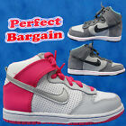 NEW KIDS JUNIORS BOYS GIRLS NIKE DUNK HI TOPS LACE UP TRAINERS UK SIZE 10 - 2