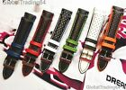18mm, 20mm, 22mm LUXURY ITALIAN Perforated LEATHER RACING/RALLY WATCH STRAP