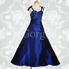 Flower Girl Dress Wedding Bridesmaid Ball Gown Party Royal Blue Age 2y-12y #167
