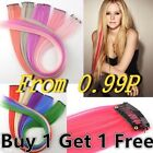 "Funky Streak 22"" Clip in Hair Extensions Range colors lot"