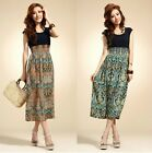 New Bohemian Style Women sleeveless Casual Maxi Cotton Vest Party Beach Dress